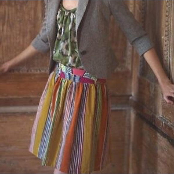 Anthropologie Dresses & Skirts - Edme & Esyllte Amhara Multicolor Stripe Boho Skirt